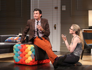Jerry O'Connell and Lily Rabe in Seminar