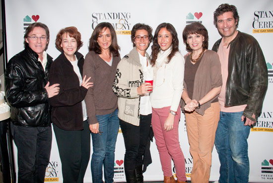 Richard Thomas, Harriet Harris, Polly Draper, Dina Weisberger,  Jenny Greenstein, Beth Leavel, and Craig Bierko