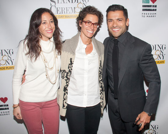 Dina Weisberger,  Jenny Greenstein, and Mark Consuelos