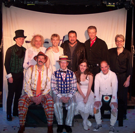Joey Fatone (back row, center) and the cast of The Fantasticks