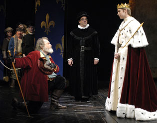 Ted van Griethuysen, Edward Gero, and Christopher Kellyin Henry IV, Part 2(Photo © Richard Termine)