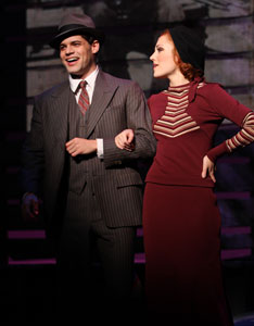 Jeremy Jordan and Laura Osnes in Bonnie & Clyde (© Nathan Johnson Photography)