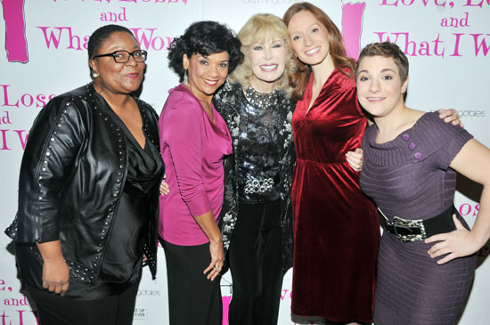 Myra Lucretia Taylor, Sonia Manzano, Loretta Swit, Emily Dorsch, and Daisy Eagan