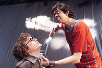 Rob Grace and Geoffrey Arend in First You're Born(Photo © Aaron Epstein)
