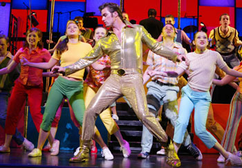 Bob Gaynor and the cast of Bye Bye Birdie(Photo © Joan Marcus)