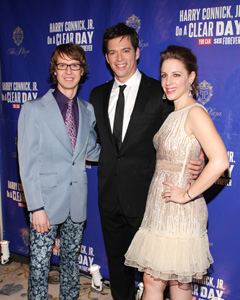 David Turner, Harry Connick Jr.,and Jessie Mueller
