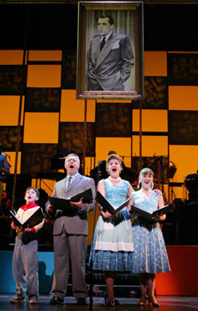 William Ullrich, Walter Bobbie, Victoria Clark,and Jessica Grové in Bye Bye Birdie(Photo © Joan Marcus)