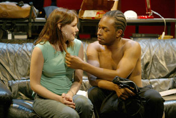 Liz Stauber and Burl Moseley in Where Do We Live(Photo © Carol Rosegg)