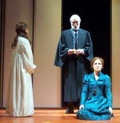 Andrea C. Ross, Dale Place, and Jayne Patersonin Lizzie Borden: The Musical(Photo © Emily Sweet)