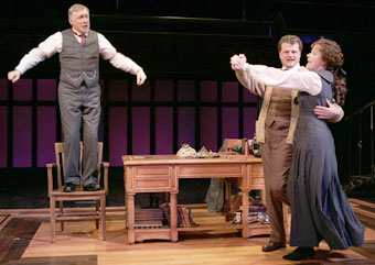 Simon Jones, Michael Cumpsty, and Kate Fry in My Fair Lady(Photo © T. Charles Erickson)