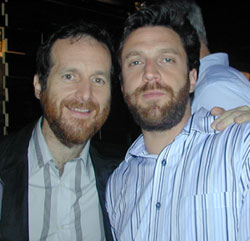 Denis O'Hare (Assassins) withRaúl Esparza (Taboo)(Photo © Michael Portantiere)