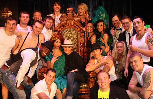 Taye Diggs, Idina Menzel, and the cast of Absinthe