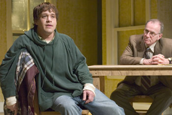 T.R. Knight and Robert Hogan in Boy(Photo © James Leynse)