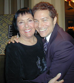 Keely Smith with Michael Feinstein(Photo © Michael Portantiere)
