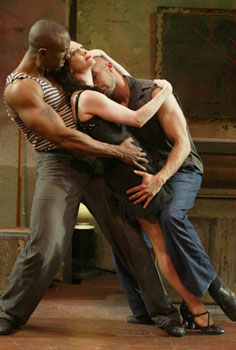 Gregory Butler, Bebe Neuwirth, andShawn Emamjomeh in Here Lies Jenny(Photo © Carol Rosegg)