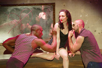 Gregory Butler, Bebe Neuwirth, and Shawn Emamjomehin Here Lies Jenny(Photo © Carol Rosegg)