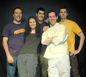 The core members of the Broken Watch Theatre Company:Leo Lauer, Teresa L. Goding, Drew DeCorleto,Stephen Brumble, Jr., and Andy Hoff(not pictured: Jeremy Koch)