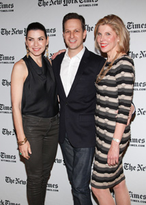 Julianna Margulies, Josh Charles, and Christine Baranski