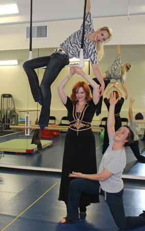 Emma Henshall, Christina Hendricks, and Robert Webber