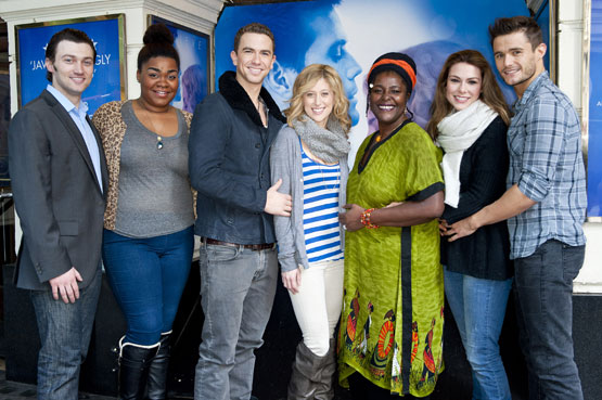Ghost the Musical stars Bryce Pinkham, Da'Vine Joy Randolph, Richard Fleeshman, Caissie Levy,