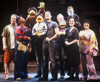 The cast of Avenue Q(Photo © Carol Rosegg)