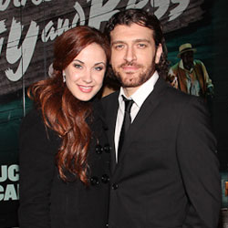 Sierra Boggess and Tam Mutu