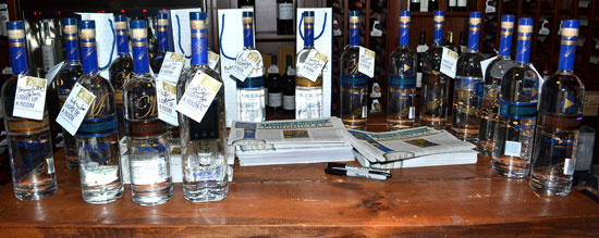Signed bottles of MEDEA Vodka