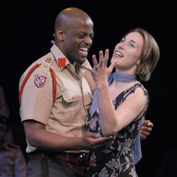 Lloyd Notice and Kathryn Merry in Othello(Photo © Richard Termine)