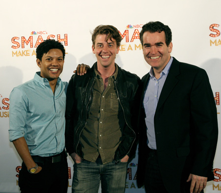 Jaime Cepero, Brian d'Arcy James, and Christian Borle