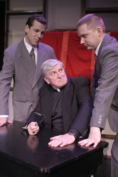 Mark A. Steel, Jim Sherman, andPatrick Rybarcyzk in A Cardinal Deposed