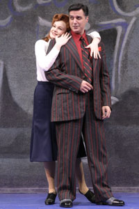 Kate Baldwin and Robert Cuccioliin Guys and Dolls(Photo © Gerry Goodstein)
