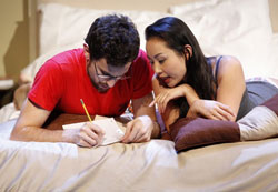 Matthew Dellapina and Li Jun Li