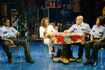 Daniel Breaker, Charlayne Woodard, Keith Randolph Smith, andSaidah Arrika Ekulona in Fabulation(Photo © Joan Marcus)
