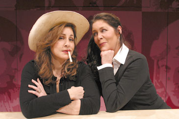 Kathy Najimy and Mo Gaffney in Afterbirth: Kathy and Mo's Greatest Hits(Photo © Michael Lamont)