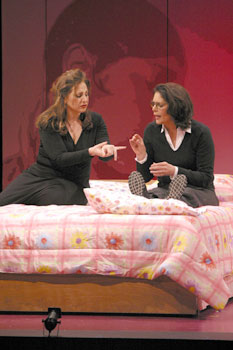 Kathy Najimy and Mo Gaffneyin Afterbirth: Kathy and Mo's Greatest Hits(Photo © Michael Lamont)