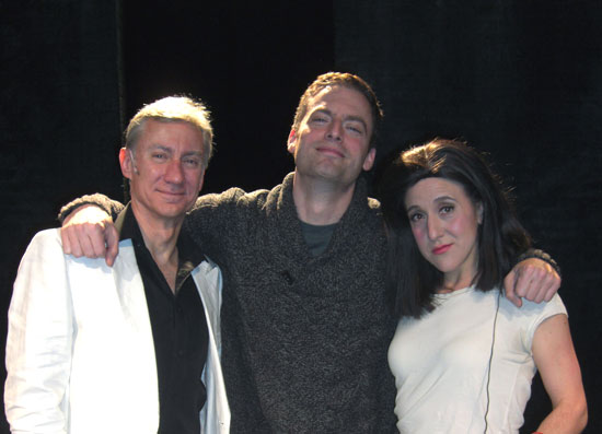 David Garrison, Justin Kirk, and Jenn Harris