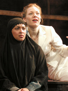 Opal Alladin and Mimi Bilinski in Miss Julie(Photo © Tyler Micoleau)