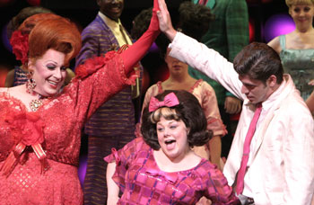 Michael McKean, Carly Jibson, and Richard H. Blake in Hairspray(Photo © Paul Kolnik)