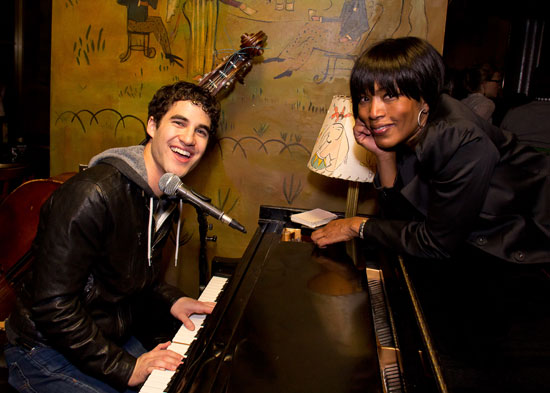 Darren Criss and Angela Bassett