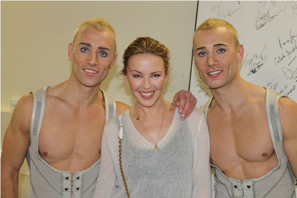 Kyle Minogue with Kevin and Andrew Atherton
