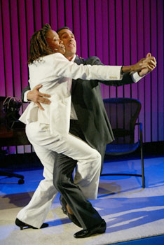 Charlayne Woodard and Robert Montanoin Fabulation(Photo &copy; Joan Marcus)