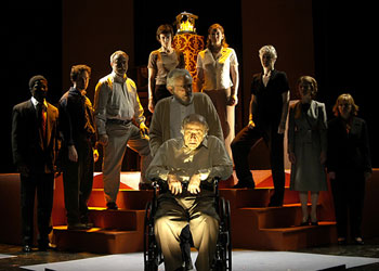 Herbert Reubens and the cast of The Action Against Sol Schumann Photo © Amy Feinberg