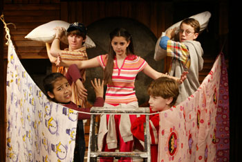 The cast of Children's Letters to God(Photo © Carol Rosegg)