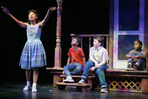 Anika Noni Rose, Marcus Carl Franklin, Harrison Chad,and Leon G. Thomas III in Caroline, or Change(Photo © Michal Daniel)
