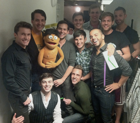 Jed Resnick, Princeton, and the cast of Naked Boys Singing