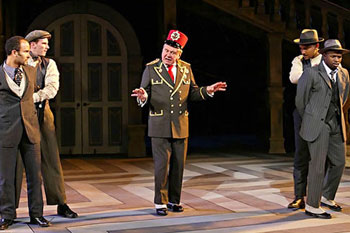 Julio Monge, Bill Heck, Brian Murray, Frank Faucette,and Sean Patrick Thomas in Much Ado About Nothing(Photo © Michal Daniel)