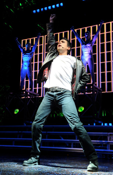 Noel Sullivan in We Will Rock You (Photo courtesy of the company)
