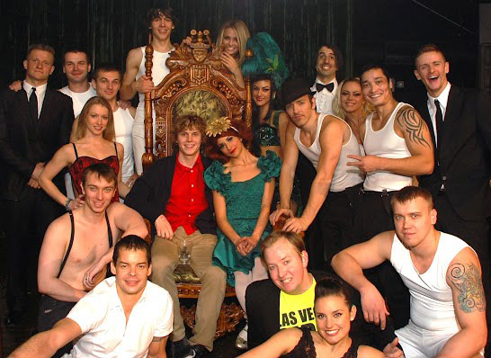 Evan Peters with the company of Absinthe