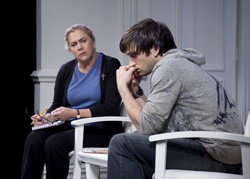 Kathleen Turner and Evan Jonigkeit
