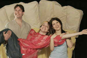 Richard Todd Adams, Eric Millegan, and Cindy Marchiondain Insomnia(Photo © Ken Howard)